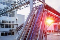 alambre, eléctrico, industrial, moderno, eléctrico, poder, electricidad fotos de archivo libres de regalías