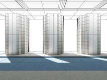Alambre-fama de las columnas 3d Imagenes de archivo