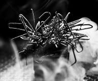 Alambre que fuma Imagen de archivo libre de regalías