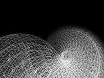Alambre y línea ilustración espiral fotografía de archivo
