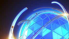 Alambre y llamarada del globo Foto de archivo