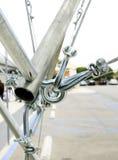 Alambre y tubo de acero del cable Foto de archivo libre de regalías