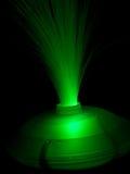 Alambres ópticos verdes fotos de archivo
