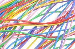 Alambres coloreados eléctricos Imagen de archivo libre de regalías