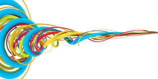 Alambres coloridos Foto de archivo libre de regalías