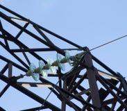 Alambres de alto voltaje Fotografía de archivo