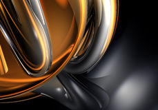 Alambres de Chrom en luz anaranjada ilustración del vector