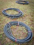 Alambres del cable fotografía de archivo