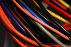 Alambres del ordenador Fotografía de archivo libre de regalías