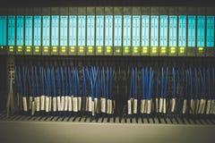 Alambres del PLC foto de archivo libre de regalías