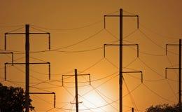 Alambres eléctricos imagenes de archivo