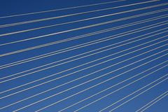 Alambres en el cielo Imagen de archivo