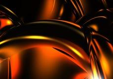 Alambres rojos en la oscuridad stock de ilustración