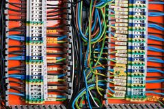 Alambres y cable imagen de archivo libre de regalías