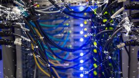 Alambres y cables almacen de metraje de vídeo
