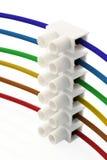 Alambres y conector del arco iris Imagen de archivo