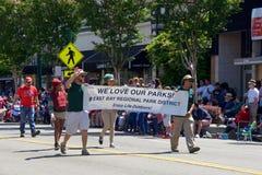 Alameda 4-ое парада 2017 в июле стоковое фото