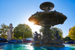 Alameda Albereda fountain of 1878 in Valencia Stock Image