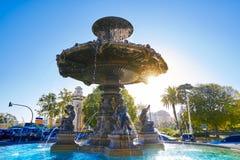 Alameda Albereda fountain of 1878 in Valencia Stock Photography