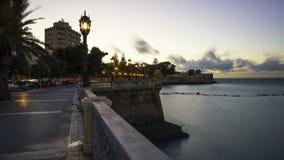 Alameda Apodaca deptak Cadiz Hiszpania zdjęcia royalty free