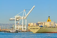 Manoa entering harbor in Oakland Royalty Free Stock Image