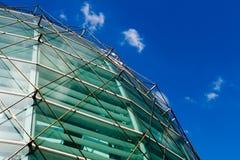 Alameda de compra de vidro do salão Imagem de Stock