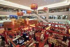 Alameda de compras antes del Año Nuevo chino en Hong-Kong Foto de archivo