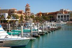 Alameda de compras de Cabo y puerto deportivo Fotos de archivo