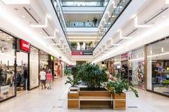 Alameda de compras de Debrecen del foro Fotografía de archivo libre de regalías