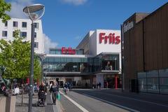 Alameda de compras de Friis, ciudad de Aalborg, Dinamarca Foto de archivo libre de regalías