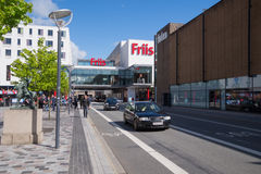 Alameda de compras de Friis, ciudad de Aalborg, Dinamarca Fotos de archivo libres de regalías