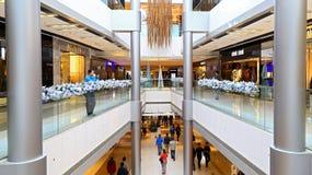 Alameda de compras de Ifc, Hong-Kong Imagen de archivo
