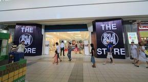 Alameda de compras de la ciudad del SM en Clark Imagenes de archivo
