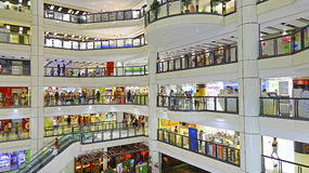 Alameda de compras de la plaza de la ciudad de Kowloon Imagen de archivo libre de regalías
