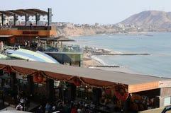 Alameda de compras de Larcomar en Lima Peru Fotografía de archivo libre de regalías