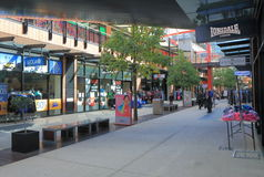 Alameda de compras de Melbourne de los Docklands Fotos de archivo libres de regalías