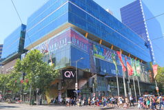 Alameda de compras de Melbourne QV Australia Imagen de archivo