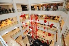 alameda de compras del Año Nuevo 2012 Foto de archivo libre de regalías