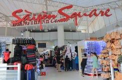 Alameda de compras del cuadrado de Saigon Ho Chi Minh City Vietnam Fotos de archivo