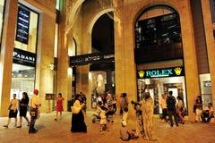 Alameda de compras del Mamilla en Jerusalén Israel Imagen de archivo libre de regalías