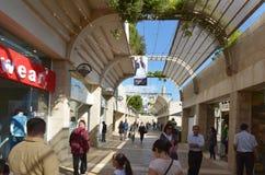 Alameda de compras del Mamilla en Jerusalén - Israel Imagenes de archivo