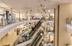 Alameda de compras del punto de Tigne en Malta foto de archivo