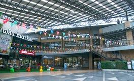Alameda de compras en el camino de Kluaynamthai, Bangkok Tailandia, el 16 de diciembre de 2017 Imagen de archivo libre de regalías