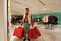 Alameda de compras en Hong-Kong Fotos de archivo libres de regalías