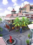 Alameda de compras en Isla Mauricio Imagen de archivo libre de regalías