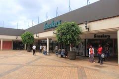 Alameda de compras en Mbabane, Swazilandia, África meridional, ciudad africana imagen de archivo libre de regalías
