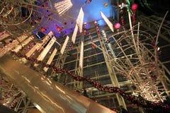 Alameda de compras festiva Imágenes de archivo libres de regalías