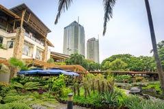 Alameda de compras de la zona verde el 4 de septiembre de 2017 en Makati, metro Manila, Imagen de archivo libre de regalías