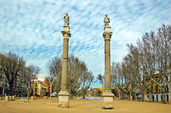 Alameda de Hercules, Seville. A view of Alameda de Hercules, in Seville, Spain Royalty Free Stock Images