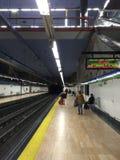 Alameda de Osuna Metro Station, Madrid, Spain. Public transportation in Stock Photo